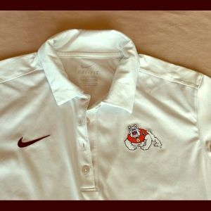 White Fresno State Polo Shirt